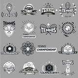 Tennisaufkleber und -ausweise Stockbild