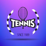 Tennisaufkleber und -ausweise Lizenzfreies Stockfoto