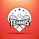 Tennisaufkleber und -ausweise Lizenzfreies Stockbild