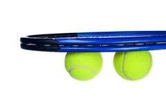 Tennisausrüstung getrennt auf Weiß stockbild
