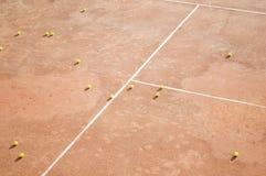 Tennisbälle sehen von der Spitze an Lizenzfreie Stockfotos