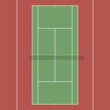 Tennisbaan stock illustratie