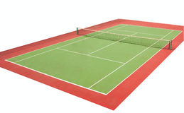 Tennisbaan Royalty-vrije Stock Foto's
