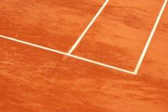 Tennisbaan in klei Stock Fotografie