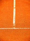Tennisbaan met t-lijn (266) Stock Fotografie
