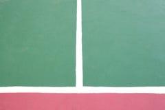 Tennisbaan witte snijdende lijnen royalty-vrije stock foto