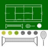 Tennisbaanregeling Royalty-vrije Stock Foto's
