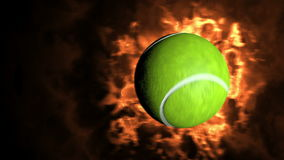 Tennisbal die aan de camera vliegen