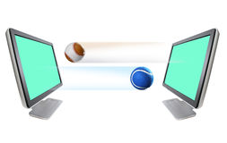 tennisball монитора бейсбола Стоковое фото RF