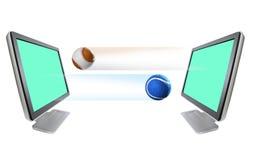 Tennisball Baseball und Überwachungsgerät Lizenzfreies Stockfoto
