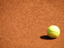 Tennisball on the court Royalty Free Stock Image