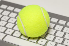 Tennisball keyboard Stock Image