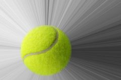 Tennisball mit Aktion Stockfotografie