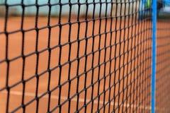 Tennisball und Schläger Lizenzfreies Stockbild