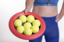 Tennisballen en het spel van de bouncyschijf Royalty-vrije Stock Afbeeldingen