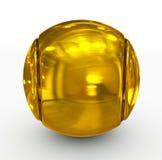 Tennisball golden lizenzfreie abbildung