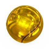 Tennisball golden stock abbildung