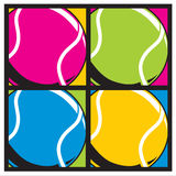 Tennisballs colors. Royalty Free Stock Images