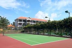 Tennisbana Arkivfoto