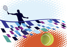 Tennisbana Stock Illustrationer