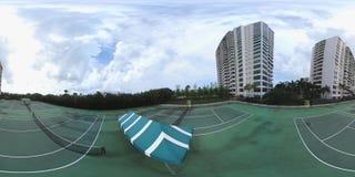 tennisbana för video 360 arkivfilmer
