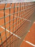 Tennisbana med netto (8) Royaltyfri Bild