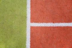 Tennisbanabakgrund Arkivfoto