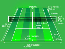 Tennisbanagräsplan royaltyfri illustrationer