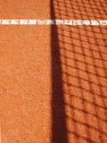 Tennisbanan med fodrar (39) Royaltyfri Foto