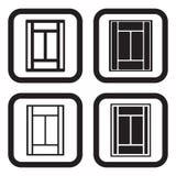 Tennisbanasymbol i fyra variationer Royaltyfri Fotografi