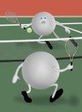 Tennisbanen stock illustratie