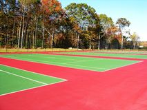 Tennisbanen Royalty-vrije Stock Afbeelding
