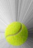 Tennisboll med handling Royaltyfri Foto