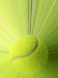 Tennisboll med handling Royaltyfria Bilder