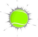 Tennisboll och en grå fläck Fotografering för Bildbyråer