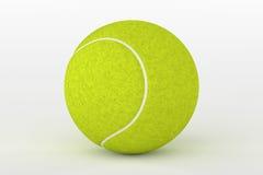 Tennisboll som isoleras på vit, tolkning 3D Arkivfoton