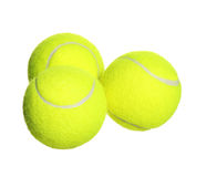 Tennisbollar som isoleras på vit Royaltyfria Foton