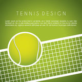 Tennisdesign Royaltyfri Bild