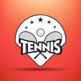 Tennisetiketten en kentekens Royalty-vrije Stock Afbeelding