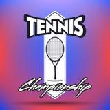 Tennisetiketter och emblem Royaltyfri Fotografi