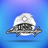 Tennisetiketter och emblem Royaltyfri Bild