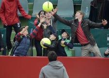 Tennisfans Royaltyfri Fotografi