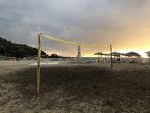 Tennisfilet in Karavostasi-Strand stock foto