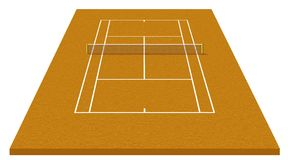 Tennisgericht vektor abbildung