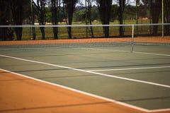 Tennisgericht breit Stockbild
