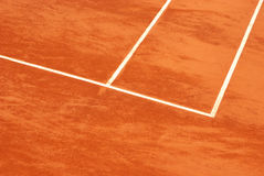 Tennisgericht im Lehm Stockfotografie