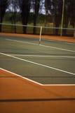 Tennisgerichtsansicht Stockfoto
