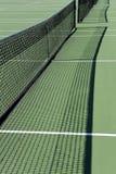 Tennisgerichtsnetze Stockfotografie