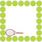 Tennishintergrundkarte vektor abbildung