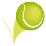 Tenniskugelschlag Stockbild